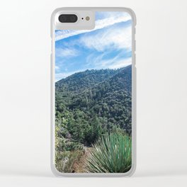 blue skies Clear iPhone Case