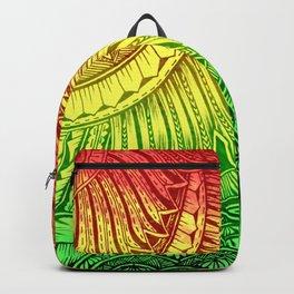 Reggae Color Polynesian Designs Tribals Backpack