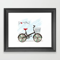 I {❤} My Bike Framed Art Print