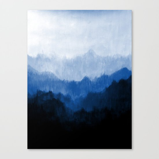 Mists - Blue Canvas Print