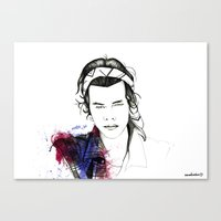 harry styles Canvas Prints featuring Harry Styles by Mariam Tronchoni