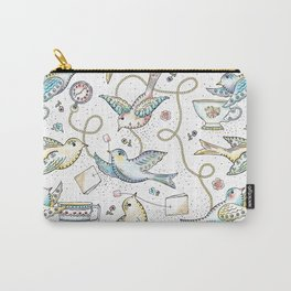 Twittering Tea Party Carry-All Pouch