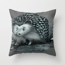 A Little Hedgehog Throw Pillow