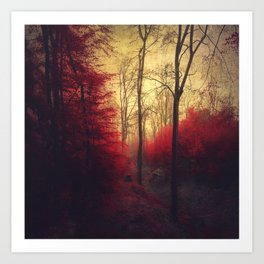 Ruby Red Forest Art Print