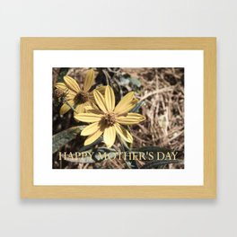 Happy Mother's Day Yellow Cosmos #cosmos #floral Framed Art Print