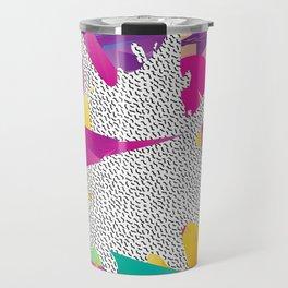 80s Abstract Travel Mug