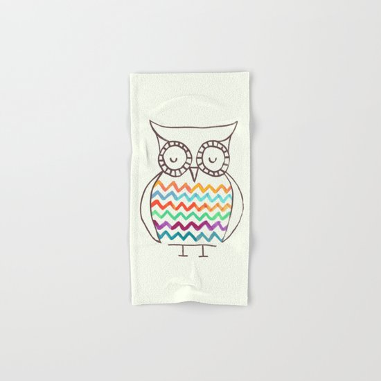 Chevron Owl Hand & Bath Towel