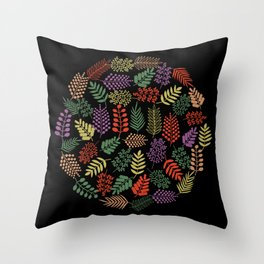 Colorful branches 2 Throw Pillow
