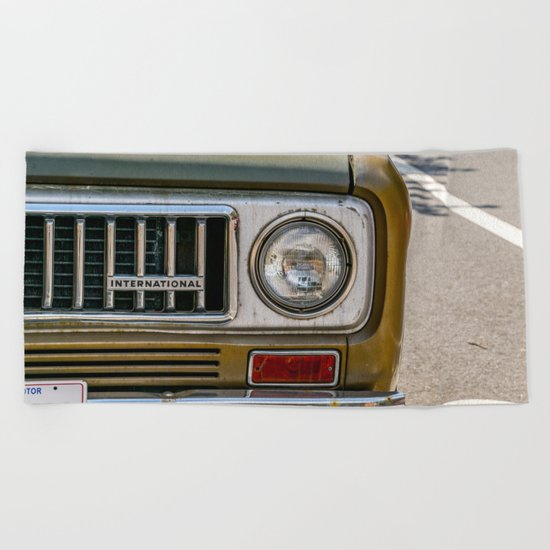 Vintage International Beach Towel