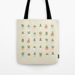 Cute Succulents Tote Bag