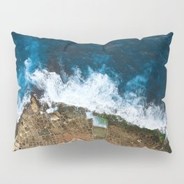 An aerial shot of the Salt Pans in Marsaskala Malta Pillow Sham