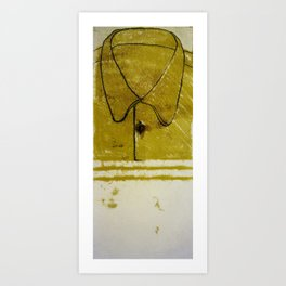 Yellow Collard Shirt Art Print
