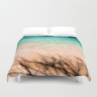beth hoeckel Duvet Covers featuring SEA AND TREE by Catspaws