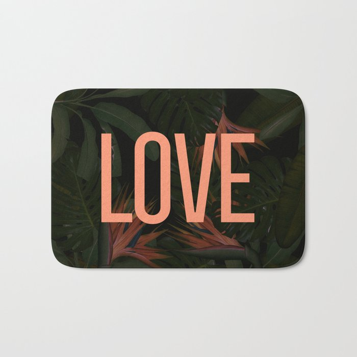 LOVE in the Forest Bath Mat