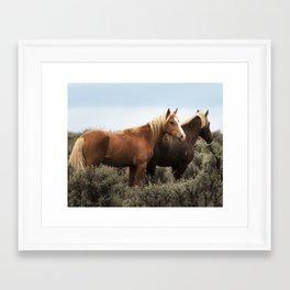 Palomino Buttes Herd - Wild Horses Framed Art Print