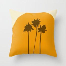 Sunset palm beach Throw Pillow