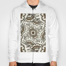 Abstract bold fans in brown and beige Hoody