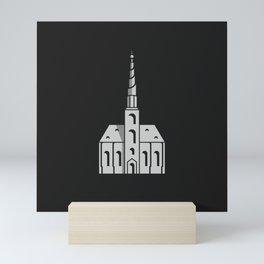 Church of Our Saviour, Copenhagen, Minimal Art Mini Art Print