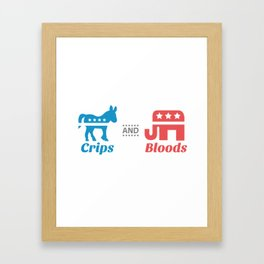 Crips and Bloods Framed Art Print