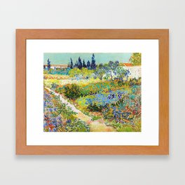 12,000pixel-500dpi - Vincent van Gogh - Garden At Arles, Flowering Garden With Path Framed Art Print
