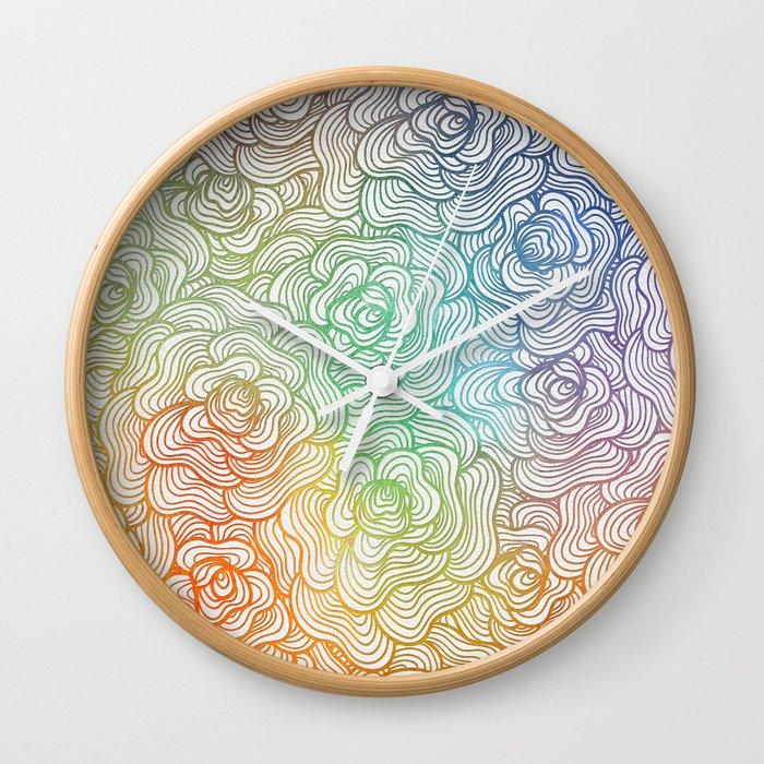 Abstract Roses 2 Wall Clock