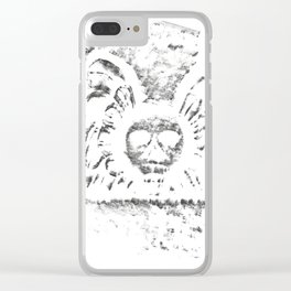 Black Headstone Clear iPhone Case