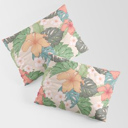 Sweet Pink Blooms Pillow Sham