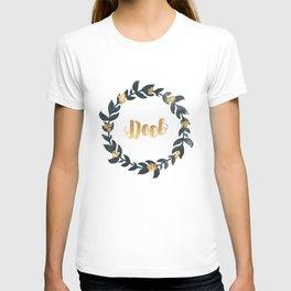 Minimal Christmas Wreath Noel T-shirt