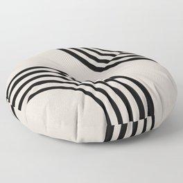 Mid century black circles Floor Pillow