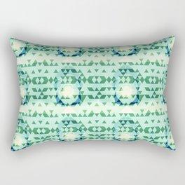 Green Tribomb Rectangular Pillow