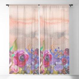 Flowers Bouquet 87 Sheer Curtain