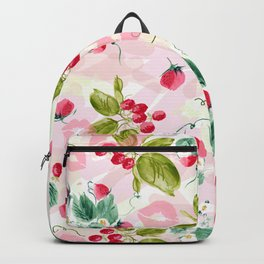 strawberries w kisses Backpack