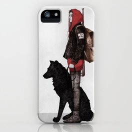 The boy and the wolf iPhone Case