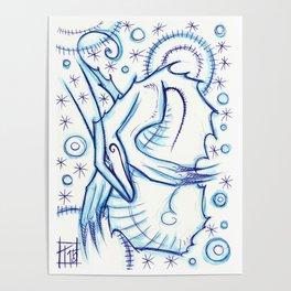 Blue Star Poster
