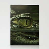 crocodile Stationery Cards featuring Crocodile by PrinzPhotographie
