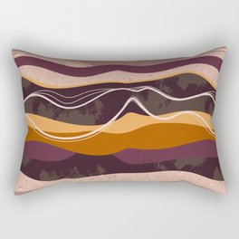 Abstract waves hand drawn illustration pattern Rectangular Pillow