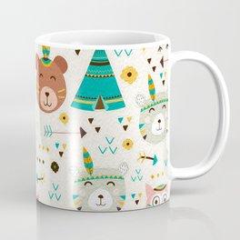 Boho Forest , Woodland Critters Coffee Mug