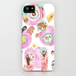 Breakfast with friends  iPhone Case