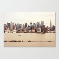 nyc Canvas Prints featuring NYC by Enkel Dika