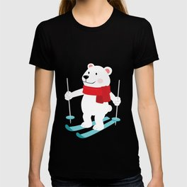 Lets Go Skiing with Mr Polar Bear this Merry Christmas T-shirt
