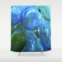 glass Shower Curtains featuring Glass by Tobias Bowman