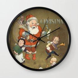 Vintage Frustrated Santa Claus Illustration (1901) Wall Clock