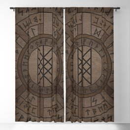 Web of Wyrd The Matrix of Fate- Wooden Texture Blackout Curtain