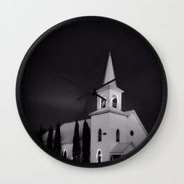 Silent Night - Black and White Wall Clock