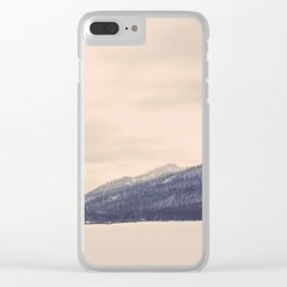 Winter Mountain Clear iPhone Case