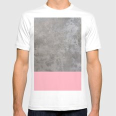 Concrete Beauty MEDIUM White Mens Fitted Tee