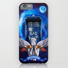 The Angel with Tardis Doctor who iPhone 4 4s 5 5c 6, pillow case, mugs and tshirt Slim Case iPhone 6