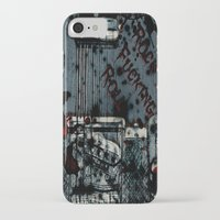 rock n roll iPhone & iPod Cases featuring Rock 'n Fucking Roll by Eric Rasmussen
