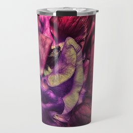 A Vivid Tapestry of Sweetpeas Travel Mug