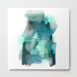 Abstract Jade Color Story Metal Print